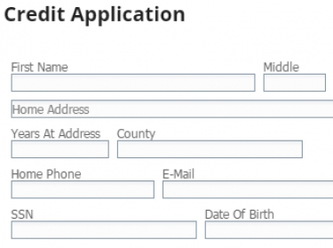 Secure Credit Application